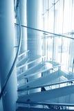 Escaleras de cristal modernas Foto de archivo