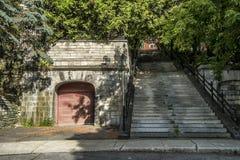 Escaleras de Du Musee Avenue Imagenes de archivo