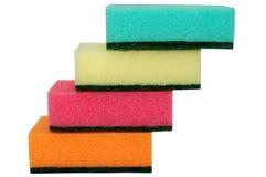 Escaleras de esponjas multicoloras fotografía de archivo libre de regalías