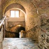 Escaleras de Grubelgasse que descienden al río Danubio en Durnstein, Wach Imagen de archivo libre de regalías