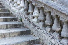 Escaleras de la barandilla Imágenes de archivo libres de regalías