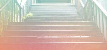 Escaleras de la calzada al aire libre y acción de la foto del fondo Fotos de archivo libres de regalías