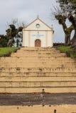 Escaleras de la capilla Sant Peter - trayectoria de piedra - Bento Goncalves - RS Foto de archivo libre de regalías