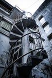 Escaleras de la casa vieja imagenes de archivo