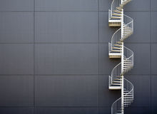 Escaleras de la emergencia Fotografía de archivo