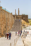 Escaleras de la entrada de Persepolis Foto de archivo libre de regalías