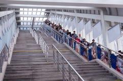 Escaleras de la estación de tren Fotografía de archivo libre de regalías