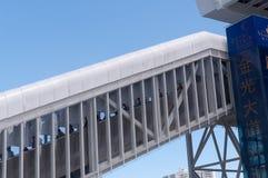 Escaleras de la estación de tren Imagen de archivo libre de regalías