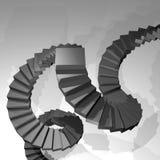 Escaleras de la fantasía Fotos de archivo