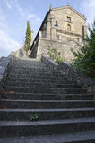 Escaleras de la iglesia de San Francisco Imágenes de archivo libres de regalías