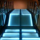 Escaleras de la iluminación Imagen de archivo