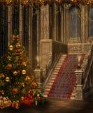 Escaleras de la Navidad Foto de archivo libre de regalías