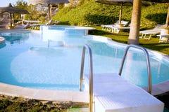 Escaleras de la piscina Imagen de archivo