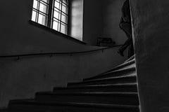 Escaleras de la prisa Imagen de archivo