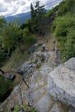 Escaleras de la roca Imágenes de archivo libres de regalías
