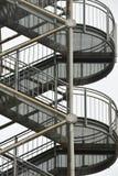Escaleras de la salida de incendios imagen de archivo libre de regalías