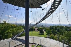 Escaleras de la torre del parque, Stuttgart Imágenes de archivo libres de regalías