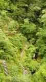 Escaleras de las caídas del puente del diablo en País de Gales Imagenes de archivo