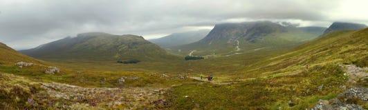 Escaleras de los diablos de las montañas de Escocia Fotos de archivo libres de regalías