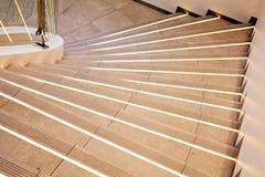 Escaleras de mármol blancas Imágenes de archivo libres de regalías