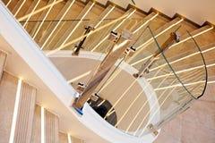 Escaleras de mármol blancas Fotos de archivo libres de regalías