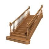 Escaleras de madera Stock de ilustración