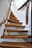 Escaleras de madera Imagen de archivo libre de regalías