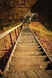 Escaleras de madera Imágenes de archivo libres de regalías