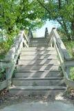 Escaleras de madera Imagen de archivo
