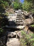 Escaleras de madera Fotografía de archivo