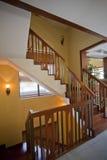 Escaleras de madera en sitio fotos de archivo libres de regalías