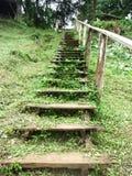 Escaleras de madera viejas Foto de archivo libre de regalías