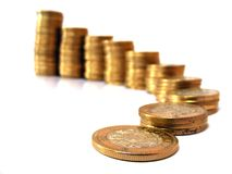 Escaleras de monedas Imagen de archivo