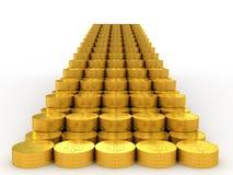 Escaleras de oro Imagen de archivo libre de regalías