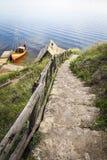 Escaleras de piedra al río Imagen de archivo
