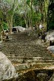 Escaleras de piedra en la montaña Imagenes de archivo