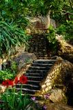 Escaleras de piedra en la montaña Foto de archivo libre de regalías