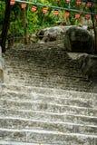 Escaleras de piedra en la montaña Imágenes de archivo libres de regalías