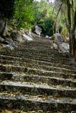 Escaleras de piedra en la montaña Imagen de archivo libre de regalías
