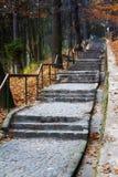 Escaleras de piedra viejas Imagen de archivo libre de regalías