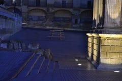 Escaleras De Piedra Y columna Obrazy Stock