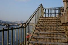 Escaleras de Praga Imagen de archivo libre de regalías
