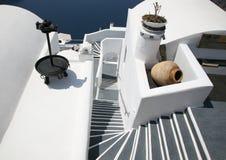 Escaleras de Santorini Foto de archivo libre de regalías