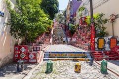 Escaleras de Selaron en Lapa, Rio de Janeiro Foto de archivo libre de regalías