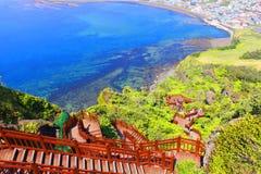Escaleras de Seongsan - isla de Jeju Imagenes de archivo