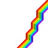 Escaleras del arco iris Imágenes de archivo libres de regalías