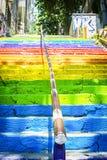 Escaleras del arco iris de Estambul Imagen de archivo