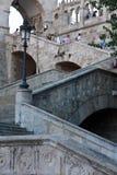 Escaleras del bastión en Budapest Foto de archivo