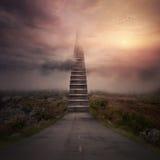 Escaleras del camino Imagen de archivo libre de regalías