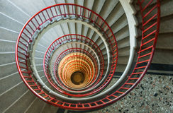 Escaleras del caracol Fotos de archivo libres de regalías
